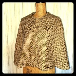 Kate Landry tweed cape 👀